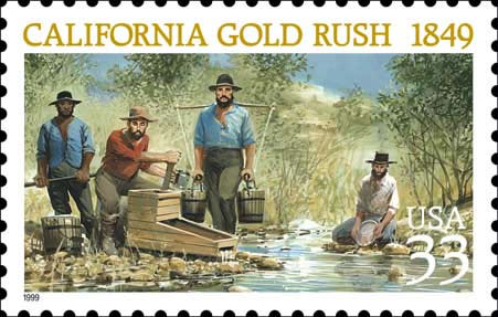 california gold rush map. california gold rush maps 1848