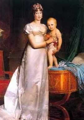 Marie Louise Empress Of France With Her Son Napoleon II King of Rome